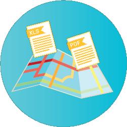 Exportação de rotas em xls e pdf