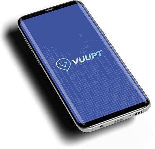 Celular com App Vuupt