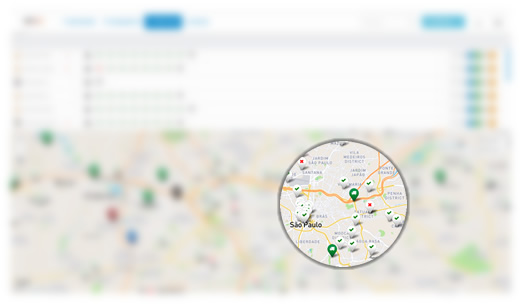 Mapa de serviços