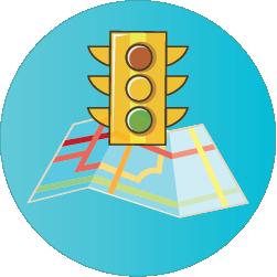 Sinal de trânsito com mapa